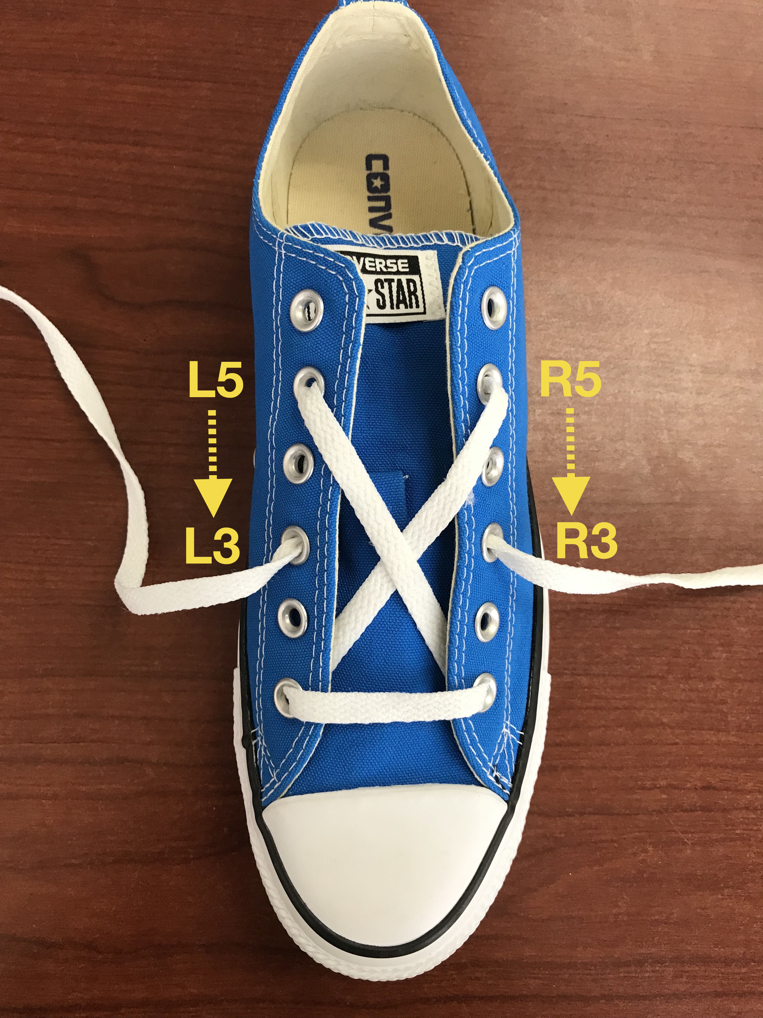 sports shoes 3c428 b2d43 Bottom of R1 to top of L5. Bottom of L1 to top of R5.